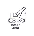 mobile crane line icon sign vector image vector image