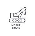 mobile crane line icon sign vector image