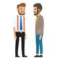 modern men dressed in formal cloth bearded vector image vector image