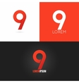 number nine 9 logo design icon set background vector image vector image