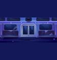 old subway train car broken metro wagon interior vector image vector image
