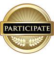 participate gold icon vector image vector image