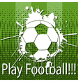 Play Football vector image vector image