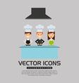 professional chef design vector image