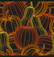 pumpkin seamless pattern vector image