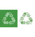 recycle symbol reuse recycling arrows ecology vector image