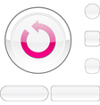 Refresh white button vector image vector image