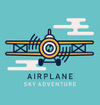 retro airplane flat image vector image vector image
