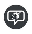 Round burning time dialog icon vector image vector image