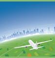 sao paulo skyline flight destination vector image vector image