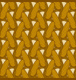 seamless pattern with ears corn vector image vector image