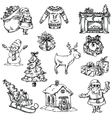 Selection of Christmas symbols vector image vector image