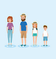 set happy family people vector image vector image