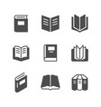 set icons of book vector image vector image