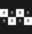 set initial letter g abstract logo design vector image vector image