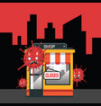 shop closed or bankrupt effect covid-19 vector image vector image