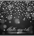 silver shining falling stars on grey ambient vector image vector image