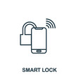 smart lock outline icon creative design from vector image