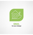snail icon vector image