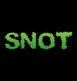 snot green slime letters booger slippery vector image vector image