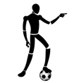 Soccer character vector image vector image