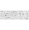 stamps and letters doodle set vector image vector image