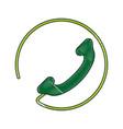 telephone landline icon image vector image vector image