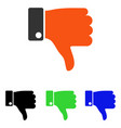thumb down flat icon vector image vector image
