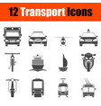 transportation icon set in front view vector image vector image