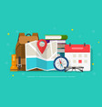 travel or holiday planning vector image
