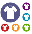 tshirt icons set vector image vector image