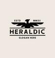 viintage heraldic eagle logo template logo vector image vector image