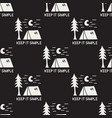 vintage hand drawn camping seamless pattern vector image vector image