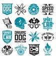 Vinyl stickers on car vector image vector image