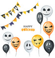 watercolor happy halloween card isolated on a vector image vector image