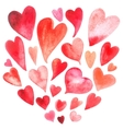 Watercolor heart set vector image vector image