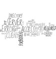 what is error text word cloud concept vector image vector image