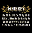 whiskey label font 002 vector image