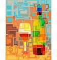 Wine mosaic vector image