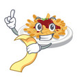 with menu pasta in a mascot shape vector image
