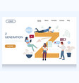 z generation website landing page design vector image