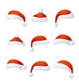 new year hat set collection red cap vector image