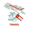 travel agency promotional poster with modern vector image
