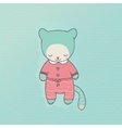 Cute cat clothing vector image
