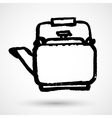 Vintage hand sketched teapot design element vector image