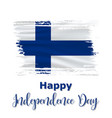 6 december finland independence day vector image vector image