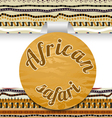 Abstract sticker African safari vector image vector image