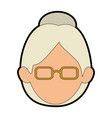 avatar grandmother cartoon vector image vector image