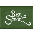 back to school chalk hand drawing greeting card vector image