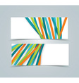banners with colorful tapes vector image vector image